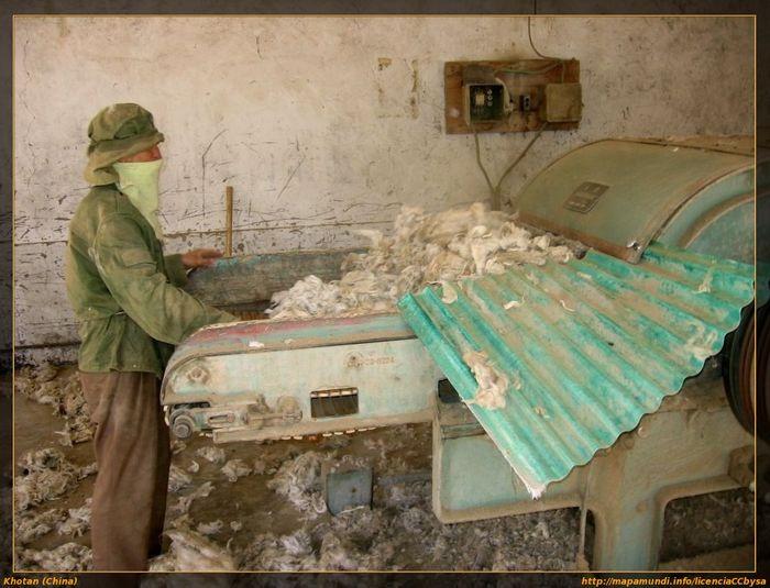 China En 2005 Xinjiang F Khotan Fabrica Alfombras D16