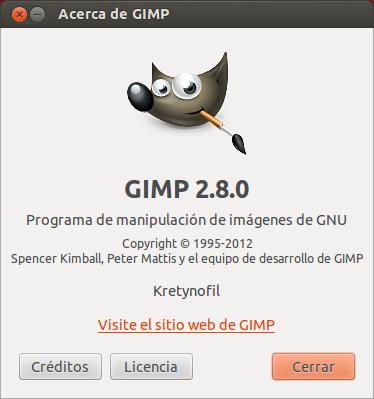 Acerca de Gimp 2.8